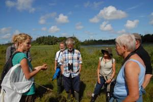 Marie fortæller om tørvemosser ved Ål Præstesø.